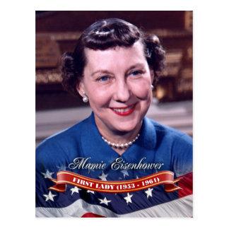 Mamie Eisenhower, primera señora de los E.E.U.U. Tarjetas Postales