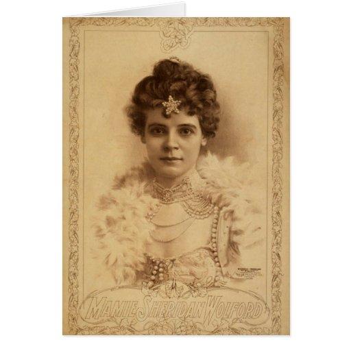 Mamie Sheridan Wolford Retro Theater Greeting Cards
