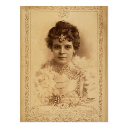 Mamie Sheridan Wolford Retro Theater Post Card