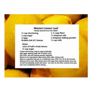 Mamie's Lemon Loaf Postcard