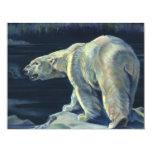 Mamífero marino del vintage, oso polar, ártico del invitación personalizada