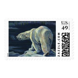 Mamífero marino del vintage, oso polar, ártico del sellos