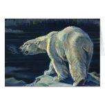 Mamífero marino del vintage, oso polar, ártico del felicitaciones