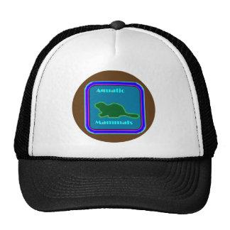 Mamíferos acuáticos - amantes de naturaleza prefer gorros bordados