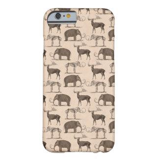 Mamíferos prehistóricos Megaceros y mamut lanoso Funda Para iPhone 6 Barely There
