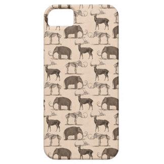 Mamíferos prehistóricos Megaceros y mamut lanoso iPhone 5 Carcasa