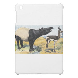 Mamíferos tapir y gazelle