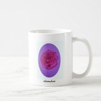 Mami's rose classic white coffee mug