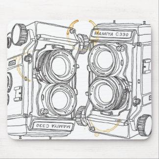 Mamiya Camera Coffee Stained Art Pad Mousepads