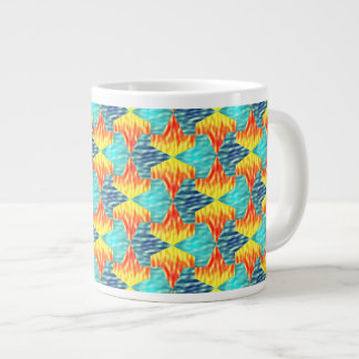 Mamluks Fire and Water Pattern Large Coffee Mug
