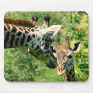mamma and baby giraffe mousepad
