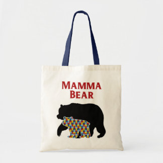 Mamma Bear, Autism Mom Pride Tote Bag