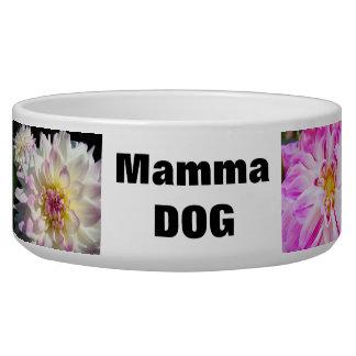 Mamma Dog food water bowl Dahlia Flowers Dog Water Bowls