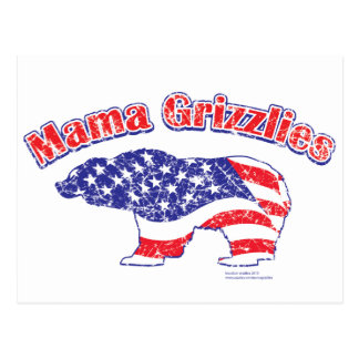 Mamma-Grizzly-Distressed Postcard