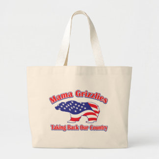 Mamma-Grizzly Large Tote Bag