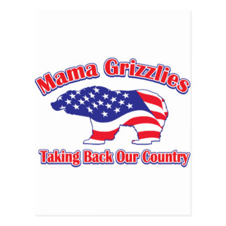 Mamma-Grizzly Postcard