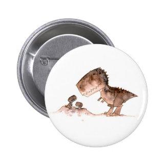 Mamma T-Rex Button