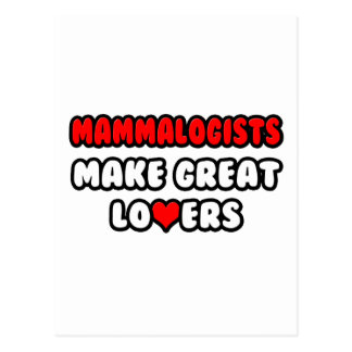Mammalogists Make Great Lovers Postcard