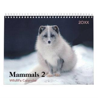 Mammals 2 Wildlife Calendar 2018