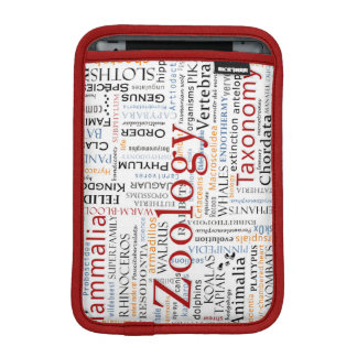 Mammals and Herpetology in Typography iPad Mini Sleeve