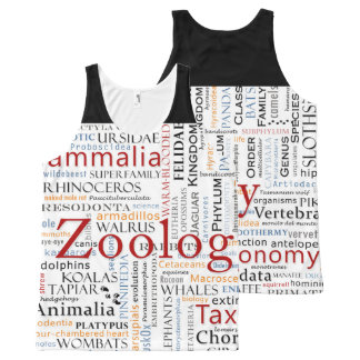 Mammals in Typography All-Over-Print Tank Top