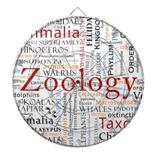 Mammals in Typography Dart Board