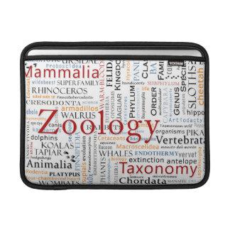 Mammals in Typography MacBook Sleeve