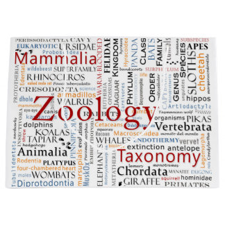Mammals in Typography Large Gift Bag