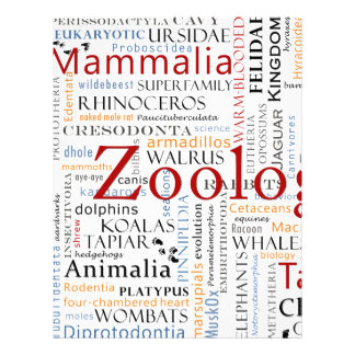 Mammals in Typography Letterhead