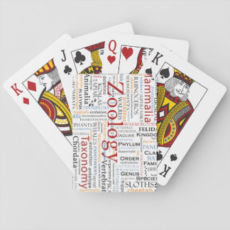 Mammals in Typography Playing Cards