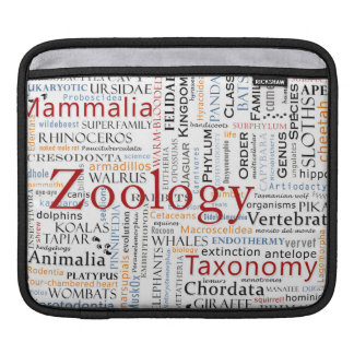 Mammals in Typography Sleeves For iPads