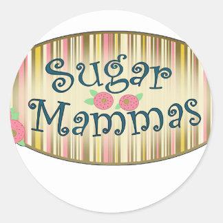 Mammas6 Classic Round Sticker