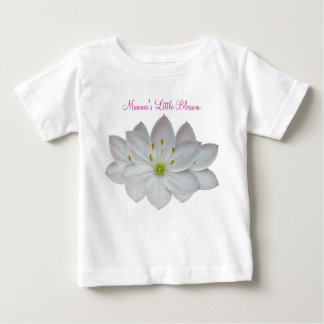 Mamma's Little Blossom with Starflowers Baby T-Shirt