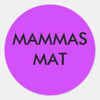 Mammas mat klistermärke classic round sticker