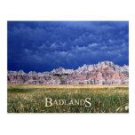 Mammatus clouds over Badlands National Park Post Cards