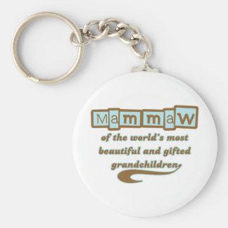 Mammaw of Gifted Grandchildren Keychains