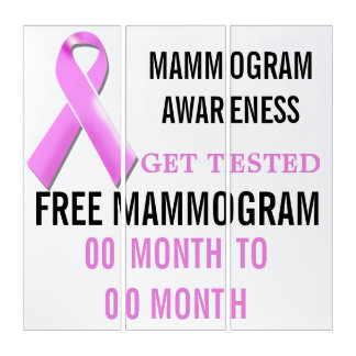 Mammogram awareness get tested | Personalize Triptych