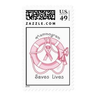 *Mammogram Saves Lives* Think Pink!! Stamp