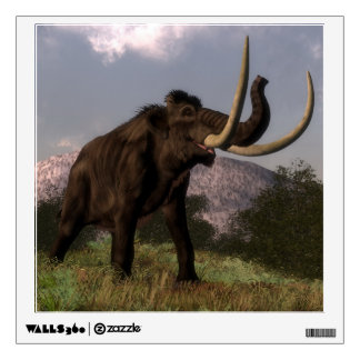 Mammoth - 3D render Wall Decal