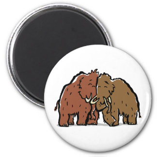 mammoth couple 2 inch round magnet