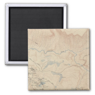 Mammoth Hot Springs and Vicinity 2 2 Inch Square Magnet