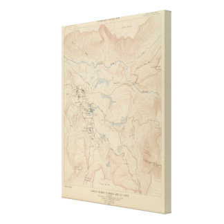 Mammoth Hot Springs and Vicinity Canvas Print