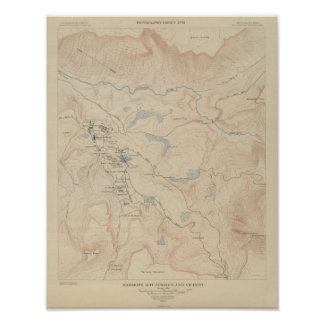 Mammoth Hot Springs and Vicinity Poster