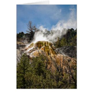 Mammoth Hot Springs - Blank Greeting Card