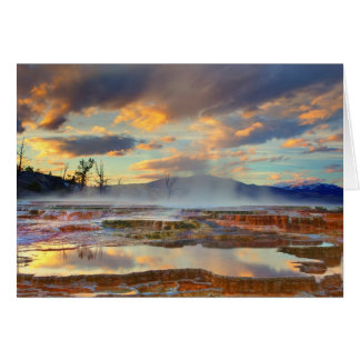 Mammoth Hot Springs Card