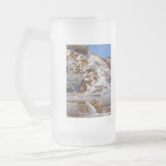 Mammoth Hot Springs Frosted Glass Beer Mug