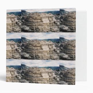 Mammoth Hot Springs Rock Formation 3 Ring Binder