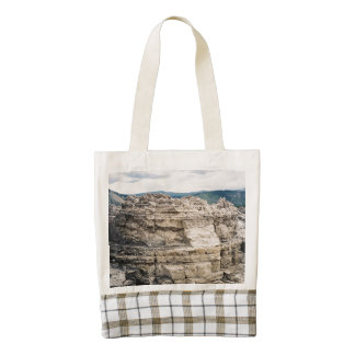 Mammoth Hot Springs Rock Formation Zazzle HEART Tote Bag