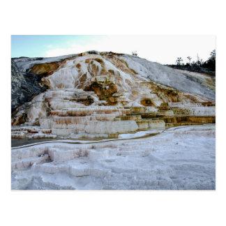 Mammoth Hot Springs Travertine Terraces Postcard