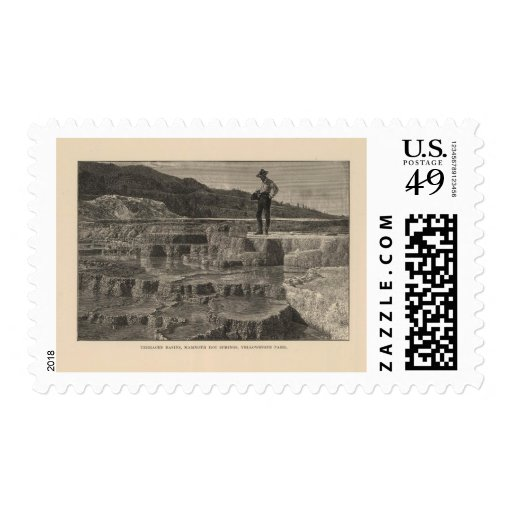 Mammoth Hot Springs view Postage